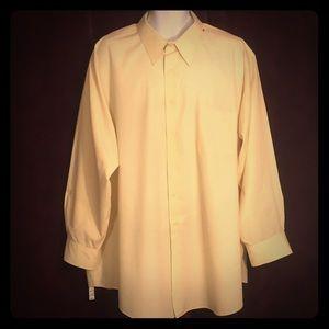 Pale yellow van Heusen poplin shirt 20 34/35 BIG